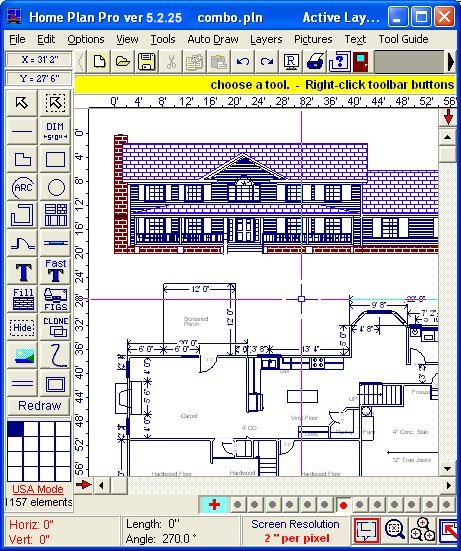 Home Plan Pro is designed to easily draw good-quality, straightforward designs.